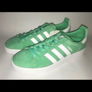 huge discount 342ad f1457 Adidas Originals Campus Sneakers Green Glow